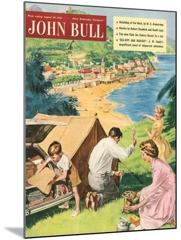 John Bull, Holiday Tents Camping Beaches Seaside Magazine, UK, 1950--Mounted Giclee Print