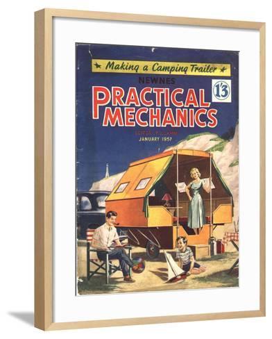 Practical Mechanics, Holiday Caravans, Trailers, Mobile Homes Magazine, UK, 1957--Framed Art Print