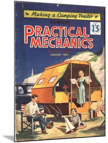 Practical Mechanics, Holiday Caravans, Trailers, Mobile Homes Magazine, UK, 1957--Mounted Giclee Print
