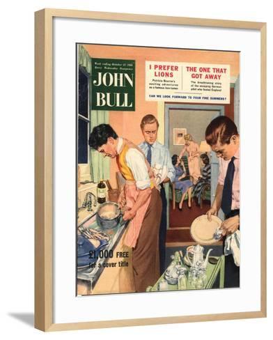John Bull, Washing Up Dishes Magazine, UK, 1956--Framed Art Print