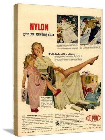 Nylon by DuPont, Nylons Stockings Hosiery, USA, 1940--Stretched Canvas Print