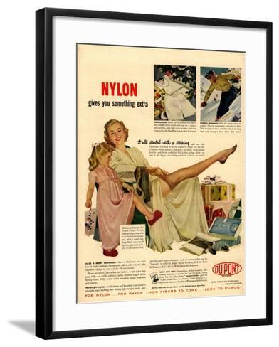 Nylon by DuPont, Nylons Stockings Hosiery, USA, 1940--Framed Art Print