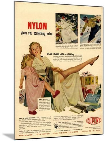 Nylon by DuPont, Nylons Stockings Hosiery, USA, 1940--Mounted Giclee Print