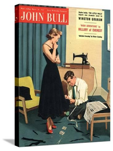 John Bull, Repairing Mending Alterations Womens Magazine, UK, 1955--Stretched Canvas Print