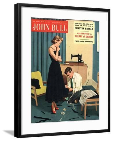 John Bull, Repairing Mending Alterations Womens Magazine, UK, 1955--Framed Art Print