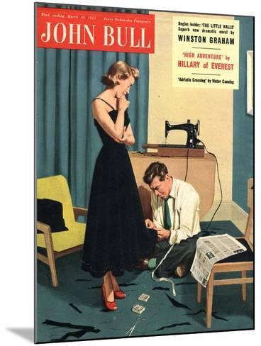 John Bull, Repairing Mending Alterations Womens Magazine, UK, 1955--Mounted Giclee Print