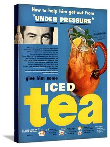 Iced Tea, USA, 1950--Stretched Canvas Print