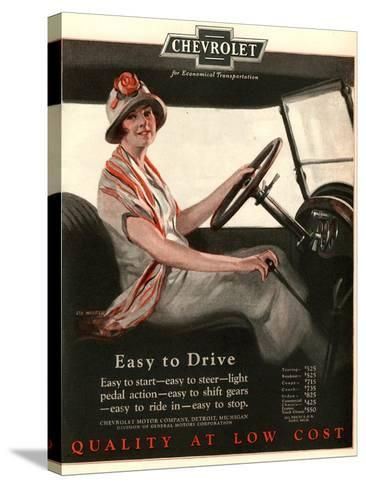 Chevrolet, Women Woman Drivers Driving Cars, USA, 1920--Stretched Canvas Print