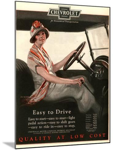 Chevrolet, Women Woman Drivers Driving Cars, USA, 1920--Mounted Giclee Print