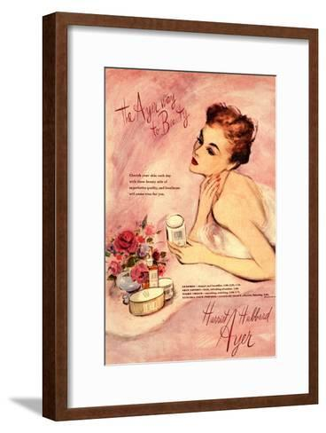 Make-Up Harriet Hubbard Ayer, UK, 1940--Framed Art Print
