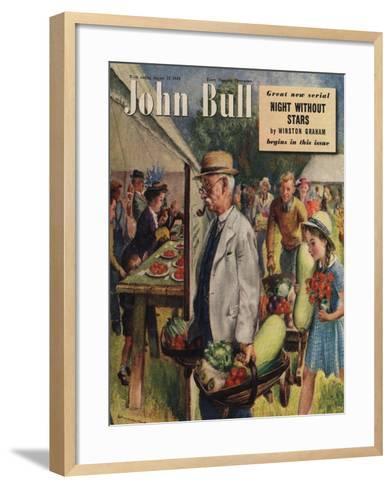 John Bull, Villages Fetes Vegetables Flowers Show Magazine, UK, 1949--Framed Art Print