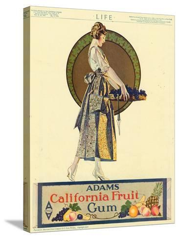 Adams California Fruit Gum, Chewing Gum Sweets Coles Phillips, USA, 1920--Stretched Canvas Print