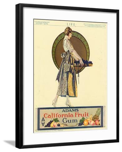 Adams California Fruit Gum, Chewing Gum Sweets Coles Phillips, USA, 1920--Framed Art Print