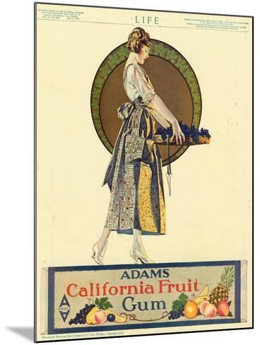 Adams California Fruit Gum, Chewing Gum Sweets Coles Phillips, USA, 1920--Mounted Giclee Print