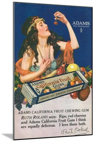 Adams California Fruit Gum, Chewing Gum Sweets, USA, 1910--Mounted Giclee Print