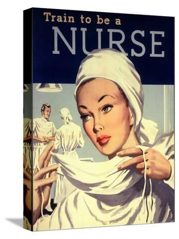 Nurses and Hospitals, UK, 1950--Stretched Canvas Print