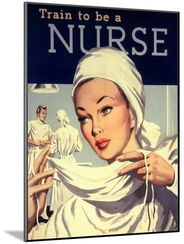 Nurses and Hospitals, UK, 1950--Mounted Giclee Print