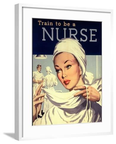 Nurses and Hospitals, UK, 1950--Framed Art Print