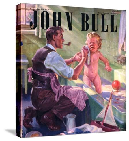 John Bull, Babies Baths Fathers Pipes Smoking Decor Bathrooms Magazine, UK, 1947--Stretched Canvas Print