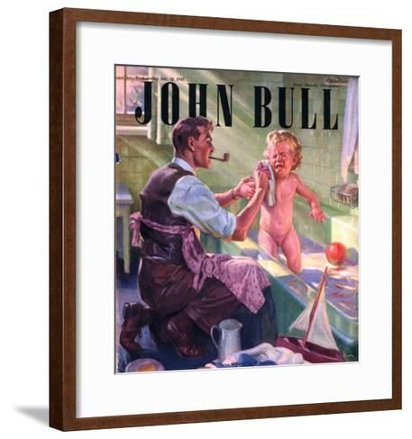 John Bull, Babies Baths Fathers Pipes Smoking Decor Bathrooms Magazine, UK, 1947--Framed Art Print