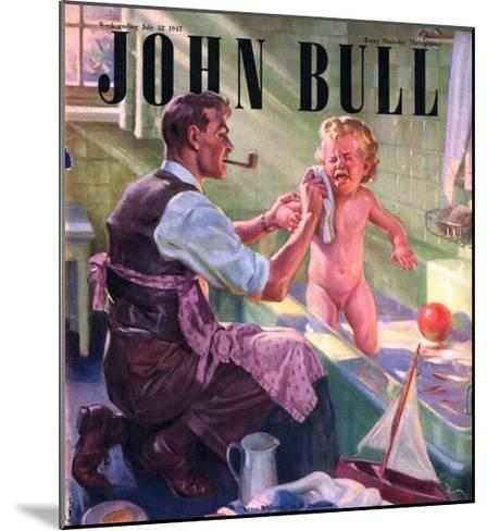 John Bull, Babies Baths Fathers Pipes Smoking Decor Bathrooms Magazine, UK, 1947--Mounted Giclee Print