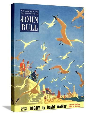 John Bull, Holiday Beaches Seagulls Magazine, UK, 1953--Stretched Canvas Print