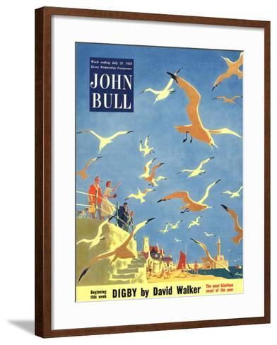 John Bull, Holiday Beaches Seagulls Magazine, UK, 1953--Framed Art Print