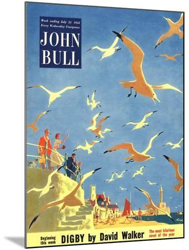 John Bull, Holiday Beaches Seagulls Magazine, UK, 1953--Mounted Giclee Print