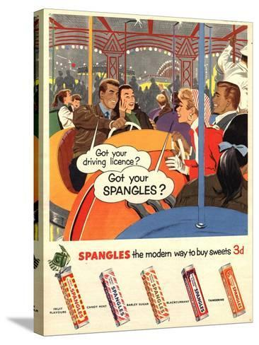 Spangles, Sweets, UK, 1950--Stretched Canvas Print