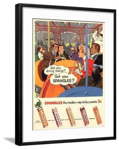Spangles, Sweets, UK, 1950--Framed Art Print