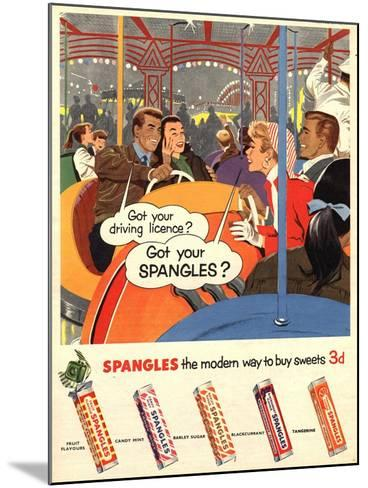 Spangles, Sweets, UK, 1950--Mounted Giclee Print