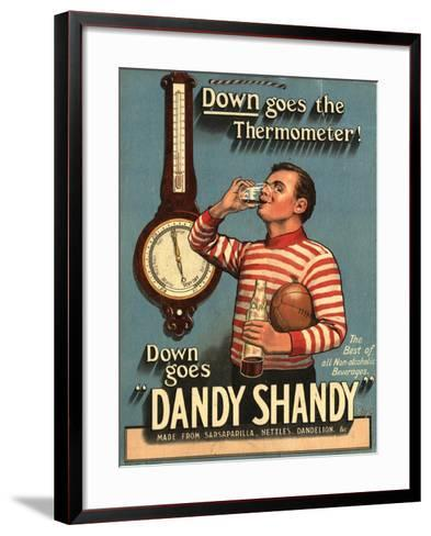 Dandy Shandy Sarsaparilla Rugby Weather, UK, 1920--Framed Art Print
