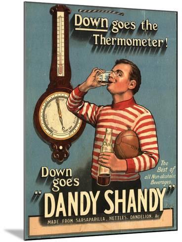 Dandy Shandy Sarsaparilla Rugby Weather, UK, 1920--Mounted Giclee Print