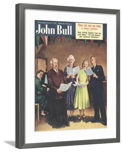John Bull, Singing, Choirs Practice, the Villages Halls Magazine, UK, 1951--Framed Art Print