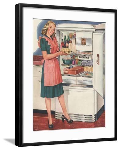 Hotpoint, Women in the Kitchen, Refrigerators, USA, 1940--Framed Art Print