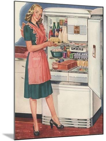 Hotpoint, Women in the Kitchen, Refrigerators, USA, 1940--Mounted Giclee Print