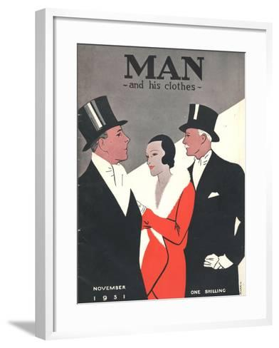 Man and his clothes, Mens Magazine, UK, 1931--Framed Art Print