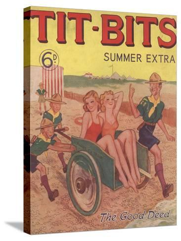 Tit-bits, Boy Scouts Holiday Beaches Magazine, UK, 1930--Stretched Canvas Print