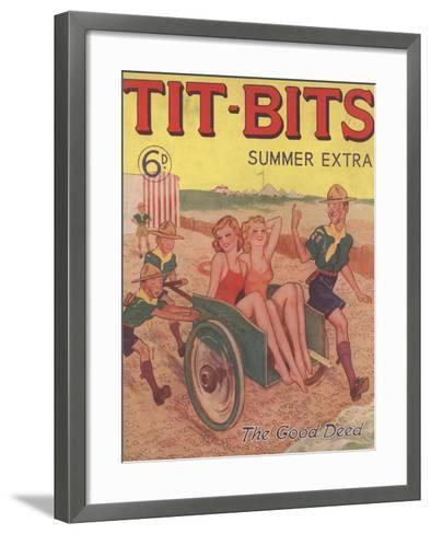 Tit-bits, Boy Scouts Holiday Beaches Magazine, UK, 1930--Framed Art Print