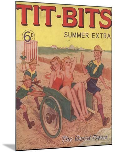 Tit-bits, Boy Scouts Holiday Beaches Magazine, UK, 1930--Mounted Giclee Print