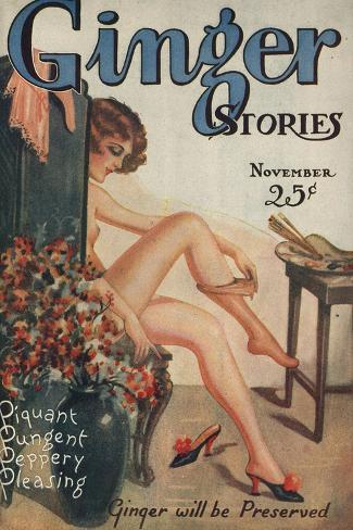 Ginger Stories, Erotica Pulp Fiction Magazine, USA, 1927--Stretched Canvas Print