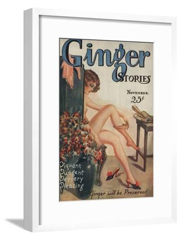 Ginger Stories, Erotica Pulp Fiction Magazine, USA, 1927--Framed Art Print