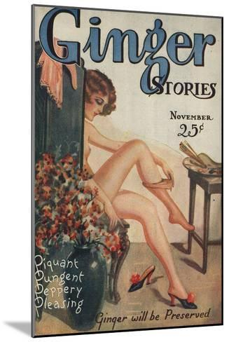Ginger Stories, Erotica Pulp Fiction Magazine, USA, 1927--Mounted Giclee Print