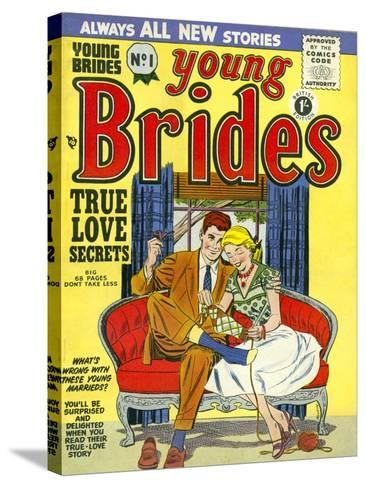 Young Brides, First Issue Weddings Marriages Brides Comics Magazine, UK, 1950--Stretched Canvas Print