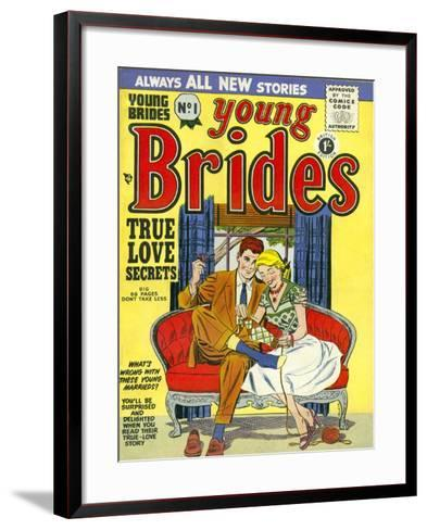 Young Brides, First Issue Weddings Marriages Brides Comics Magazine, UK, 1950--Framed Art Print