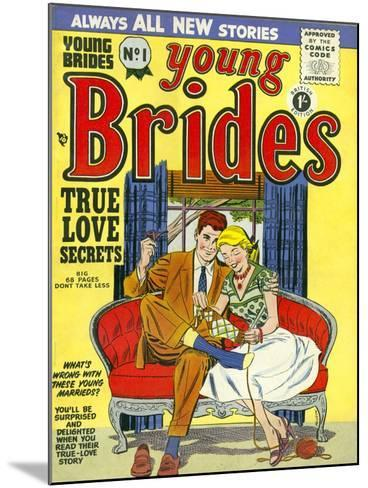 Young Brides, First Issue Weddings Marriages Brides Comics Magazine, UK, 1950--Mounted Giclee Print