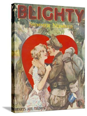Blighty, First Issue WWI Uniforms Magazine, UK, 1918--Stretched Canvas Print