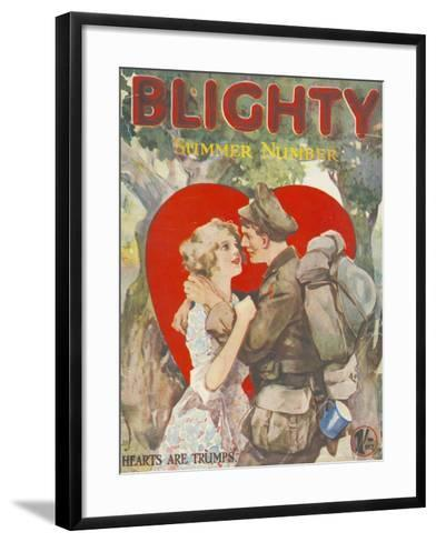 Blighty, First Issue WWI Uniforms Magazine, UK, 1918--Framed Art Print