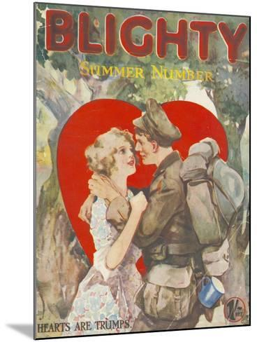 Blighty, First Issue WWI Uniforms Magazine, UK, 1918--Mounted Giclee Print