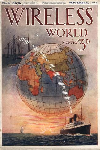 Wireless world, Radios Magazine, UK, 1916--Stretched Canvas Print